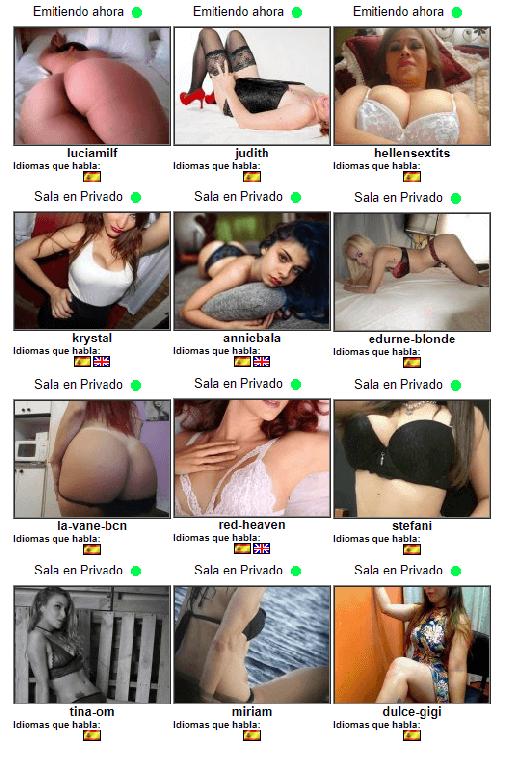 acceso webcams 803, tarjeta y sms