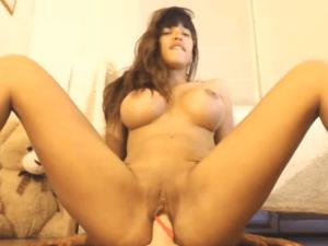 Tetona hermosa Porno Chorrea Flujo en Cam