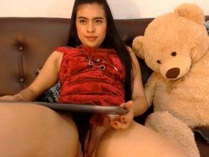 Imagen Mujer Impartiendo Clase Masturbatoria en la Webcam