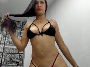 Sexy Baile en Vivo de Latina Poderosa con Cuerpo de Diosa